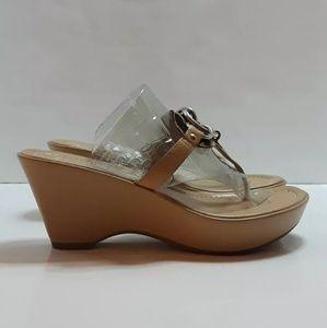 Franco Sarto Shoes - Franco Sarto Size 6.5 Animal Print Leather Sandals